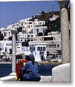 Greek Traveler Metal Print