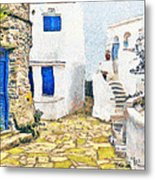 Greek Village 8 Metal Print