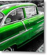 Green 1957 Chevy Metal Print
