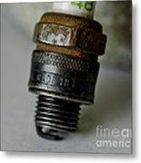 Green 48 Spark Plug Metal Print