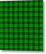 Green And Black  Plaid Cloth Background Metal Print