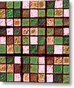 Green And Brown Sudoku Metal Print
