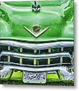 Green And Chrome-hdr Metal Print