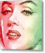 Green And Red Beauty Metal Print