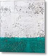 Green And White Wall Texture Metal Print