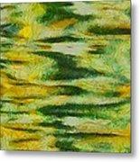 Green And Yellow Abstract Metal Print