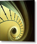Green And Yellow Spirals Metal Print
