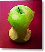 Green Apple Core 2 Metal Print