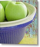 Green Apples Metal Print