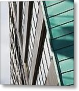 Green Architectural Detail Metal Print