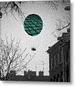 Green Balloon Metal Print