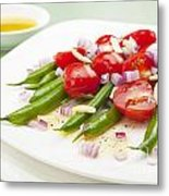 Green Bean And Tomato Salad Metal Print