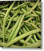 Green Beans Metal Print