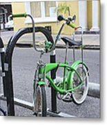 Green Bike Metal Print