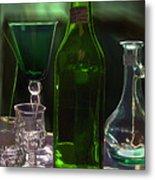 Green Bottle Metal Print