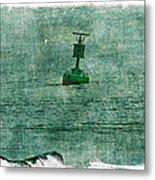 Green Buoy - Barnegat Inlet - New Jersey - Usa Metal Print