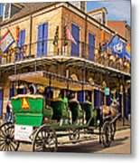 Green Carriage  Metal Print