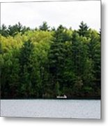 Canoe On Walden Pond Metal Print