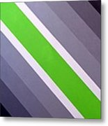 Green Chevron Metal Print