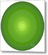 Green Circles Metal Print by Frank Tschakert
