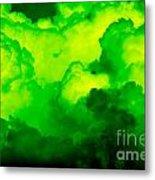 Green Clouds Metal Print