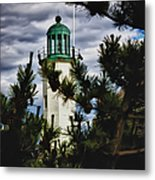 Green Copper Lantern Room On Scituate Lighthouse Metal Print