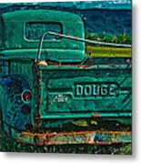 Green Dodge Metal Print