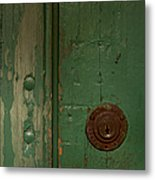 Green Door   #4377 Metal Print