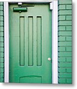 Green Door San Francisco Metal Print
