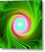 Green Energy-spiral Metal Print