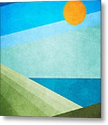 Green Fields Blue Waters Metal Print