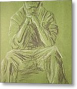 Green Figure I Metal Print