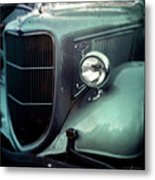 Green Ford Metal Print