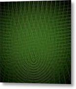 Green Fractal Background Metal Print