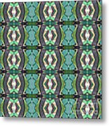 Green Geometric Abstract Pattern Metal Print