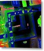 Green Geometric Spots Metal Print by Mario Perez
