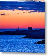 Green Glow Against Rosy Red Dawn Metal Print