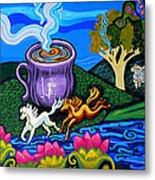 Green Goddess Coffee Metal Print