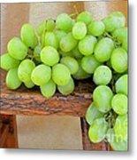 Green Grapes Metal Print