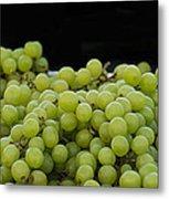 Green Green Grapes Metal Print