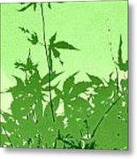 Green Green Haiku Metal Print