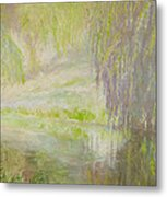 Green Haze Morning Metal Print