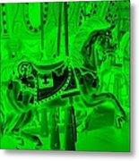 Green Horse Metal Print