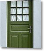 Green Iceland Door Metal Print