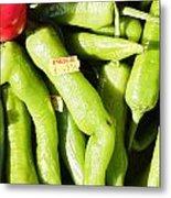 Green Jalpeno Peppers Metal Print