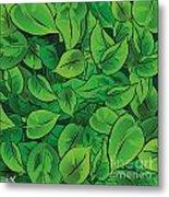 Green Leaves - V1 Metal Print