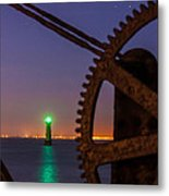 Green Lighthouse Metal Print