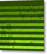 Green Lines And Feelings Metal Print