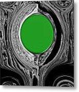 Green Mirror Metal Print