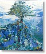 Green Mountain Tree Metal Print